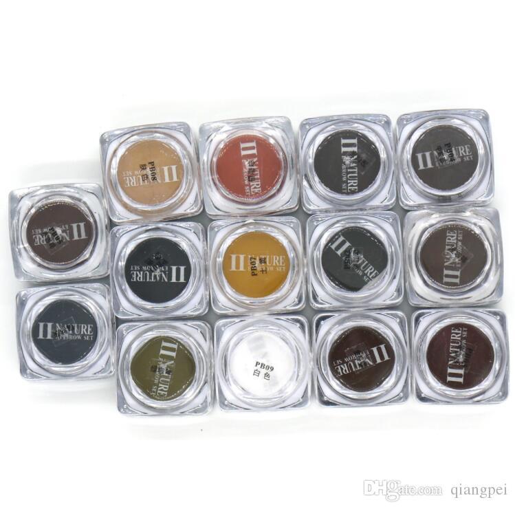 PCD المهنية الحاجب الجزئي حبر الوشم مجموعة الشفاه Microblading ماكياج الدائم صبغات Colorfastness 1 قطعة 14 لون اختياري