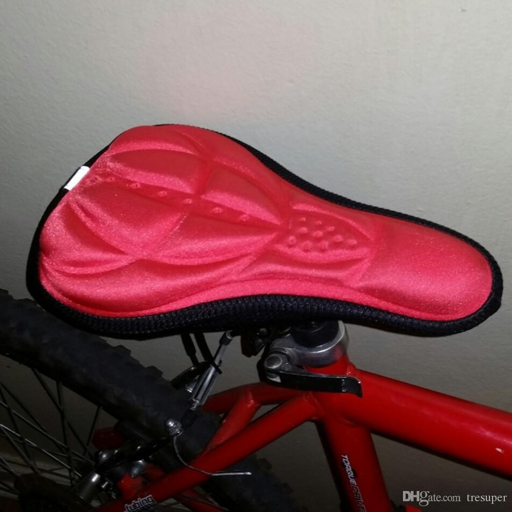 Adjustable 3D Cycling Bike Saddle Comfortable Soft Cushion Bicycle Seat Cover US