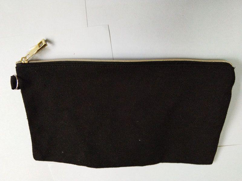 1pc Noir Casual Coton Faire de l'or vierge avec cosmétique up unisexe monnaie zippée sac à dos de sac de sac de sac de beige taille 19.5cm * 11cm mnxhr