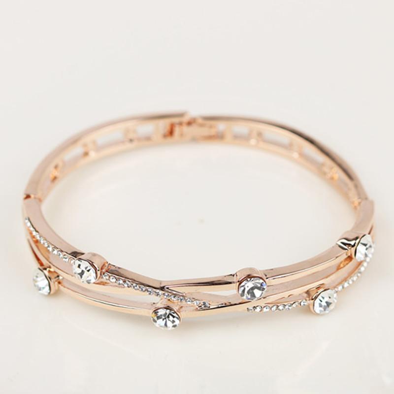 Design di lusso bianco zircone cubico zircone cavo donna braccialetti braccialetti braccialetti rosa oro rosa di alta qualità regalo della festa della mamma