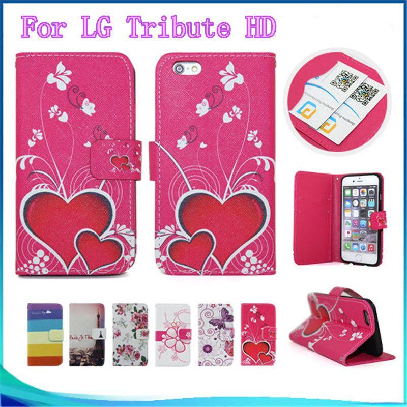 페인트 패턴 지갑 케이스 LG 공물 HD / X 스타일 / LS676 / K200sd LG G7 케이스 들어 플립 pu eather 전화 커버