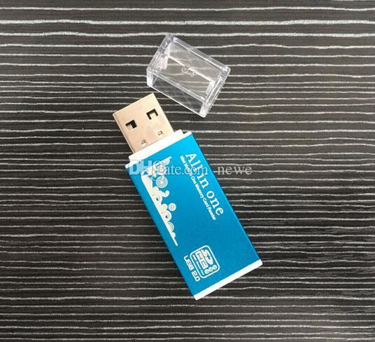 メモリスティックProデュオマイクロSD TF M2 MMC SDHC MSのためのホットスマートカードリーダーマルチメモリカードリーダー