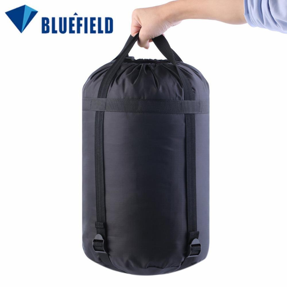 Wholesale- BLUEFIELD Lightweight Nylon Compression Stuff Sack Bag Outdoor Camping Sleeping Small Bag 40 * 20 * 20cm free shipping