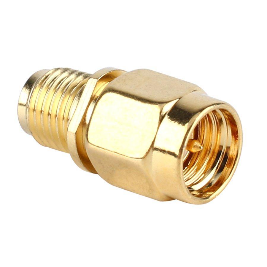 50 unids / lote para RF Cable coaxial chapado en oro Color RP SMA Hembra a SMA Macho Macho Recto Mini Jack Enchufe Adaptador de Conector de Cable
