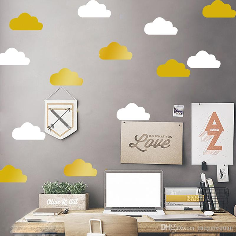 40 piece/lot Cloud Wall Stickers Baby Nursery Decor Mural Art Safe Vinyl Removable Wall Decals Kids Room Wall Decoration Nordic Eco-friendly