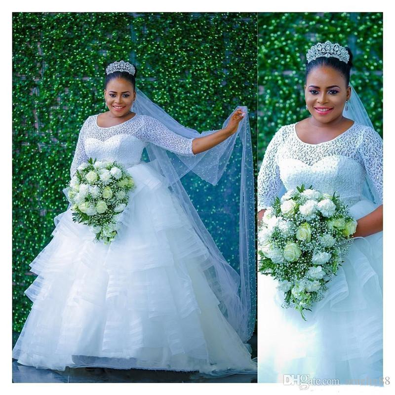 Nigeria Style Tiered Wedding Dresses 2017 Summer Lace Top Long ...