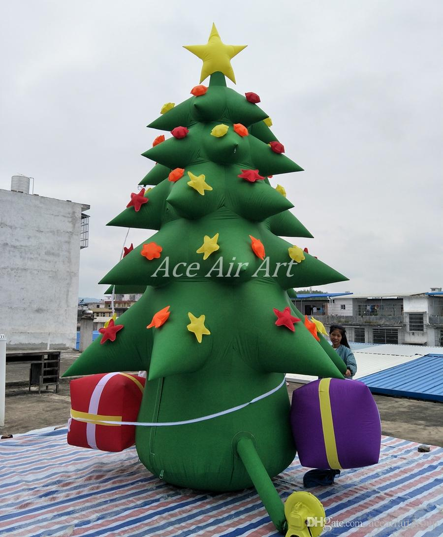 Inflatable Christmas Tree.2019 Inflatable Christmas Tree Led Outdoor Inflatable Christmas Decoration Christmas Tree For Party From Aceairartgroup Price Dhgate Com