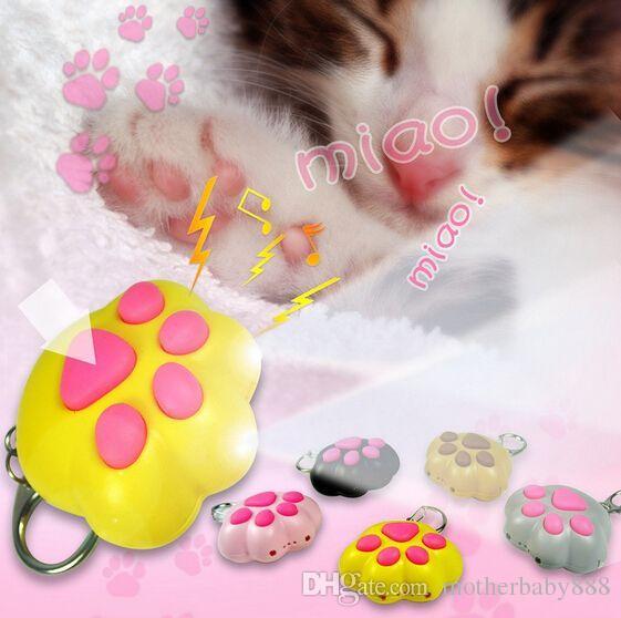 I capretti all'ingrosso dei bambini del giocattolo LED portachiavi luce portachiavi graffio di gatto torcia portachiavi del suono per il regalo di promozione bag 051.916