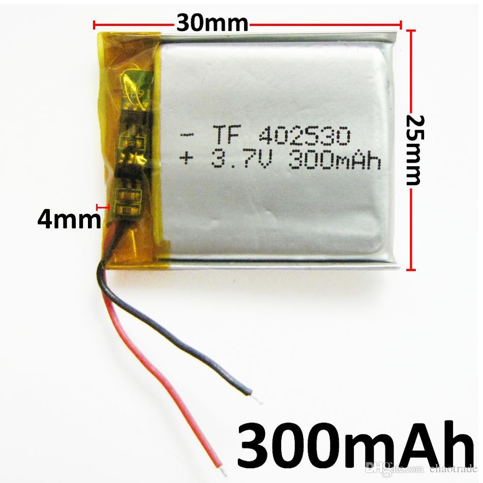 En gros 3.7 V 300 mAh Lithium Polymère LiPo li ion Rechargeable batterie cellules puissance Pour Mp3 MP4 casque DVD téléphone portable Caméra psp 402530