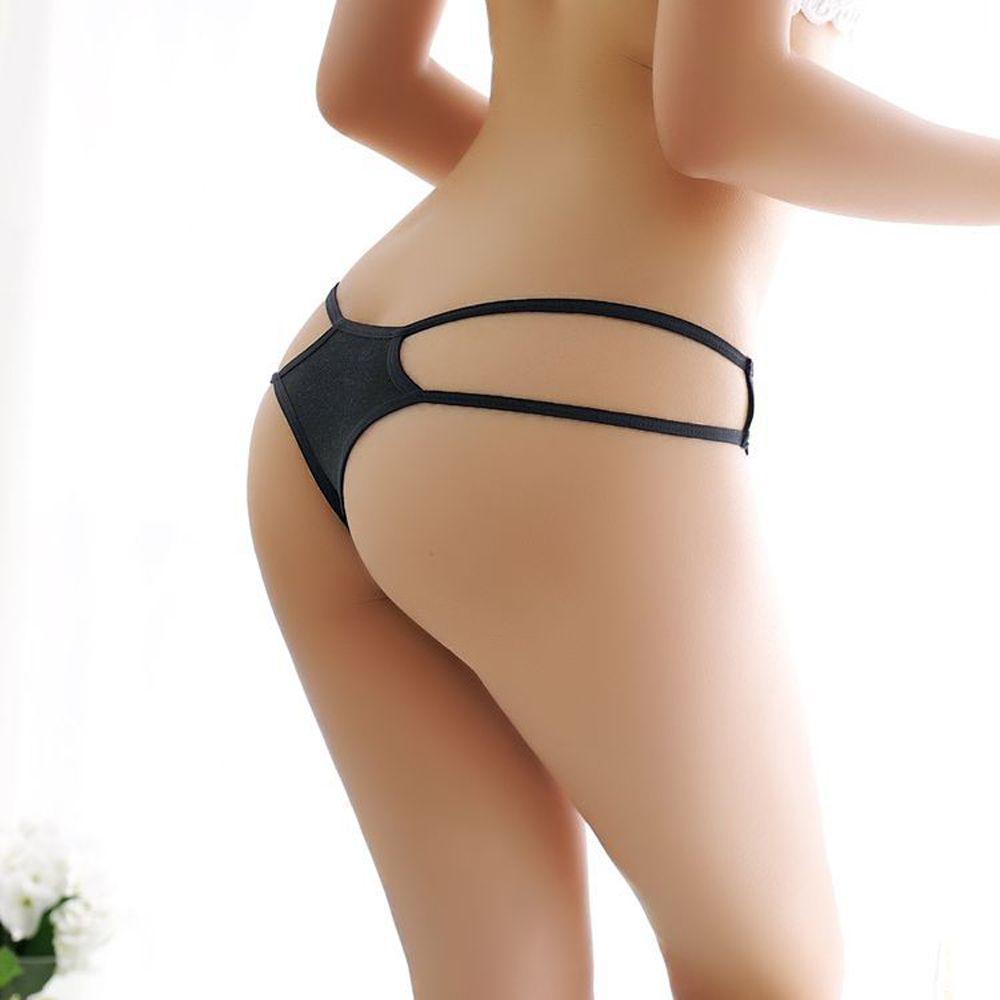 825a0bfa9 Sexy calcinha de cadarço das mulheres respirável aberto íntima respirável  tanga fio dental cuecas transparente aberto