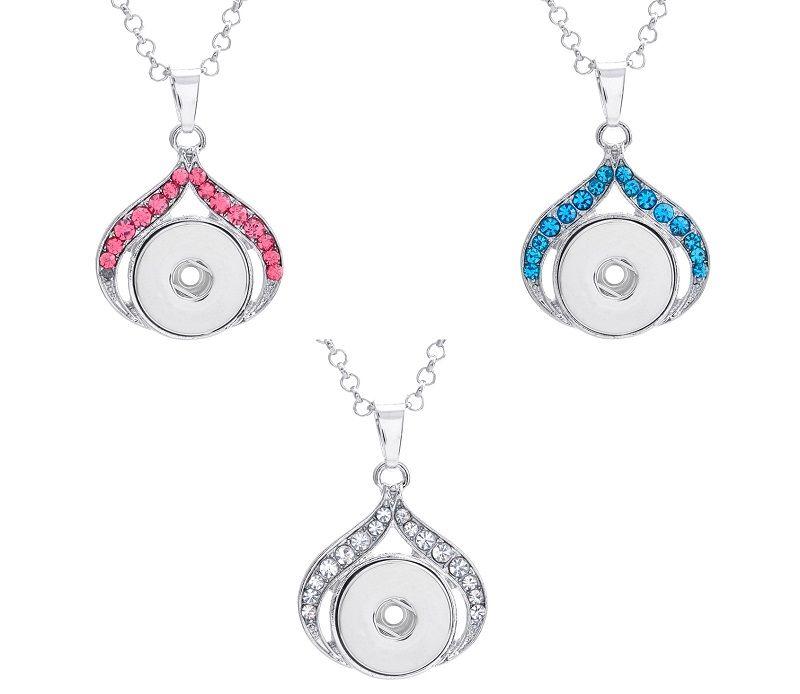 Новый DIY сплава кнопка высокое качество мода ожерелье женская Оптовая коллокация партии ювелирные изделия стразами 14
