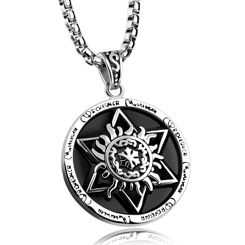Süleyman Kolye Güçlü Pentagramı Pentagram Mühür Mühür