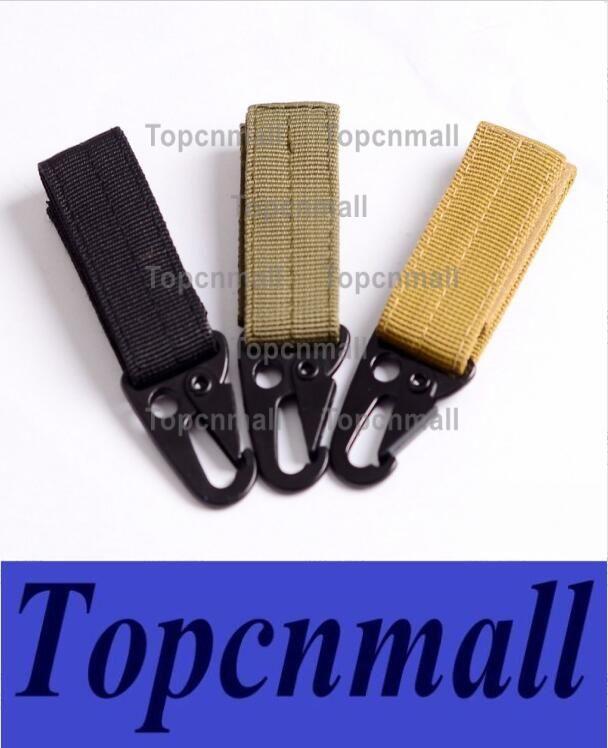 Military Nylon Key Hook Webbing Molle Buckle Outdoor Hanging Belt Clip Carabiner