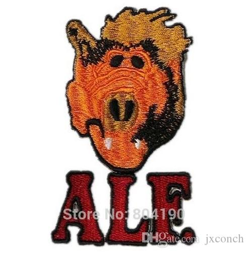 """ALF """"Alien Life Form"""" TV Series Character Crew Logo TV Series punk rockabilly applique sew on/ iron on patch Wholesale"""