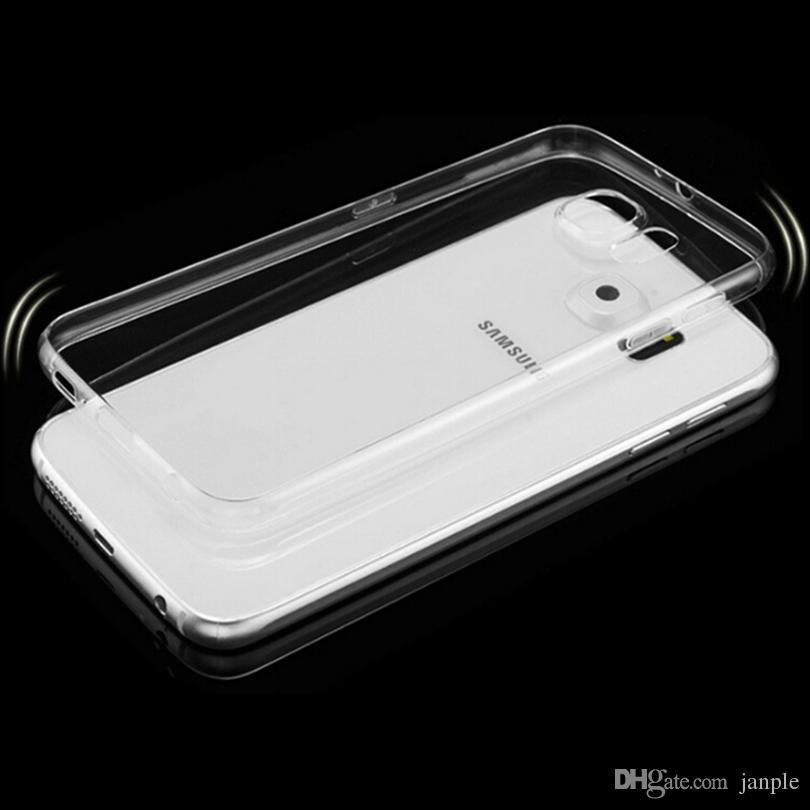 حالات الهاتف رقيقة جدا 0.3MM لينة سيليكون لسامسونج S7 S8 S9 S10 S20 زائد الملاحظة 10 9 8 حالة TPU غطاء ضد الصدمات
