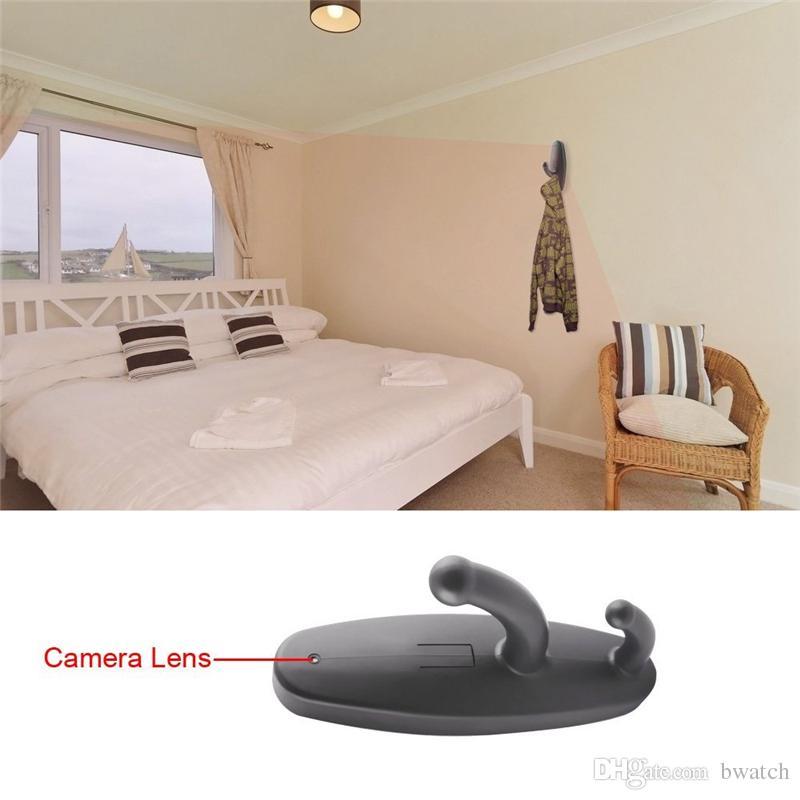Großhandel / Hd 720p Spy Kleidet Haken Kamera Versteckte Pinhole Videogerät  Mini Dv Badezimmer Aufhänger Überwachungskamera Schwarzes / Weiß Freies ...