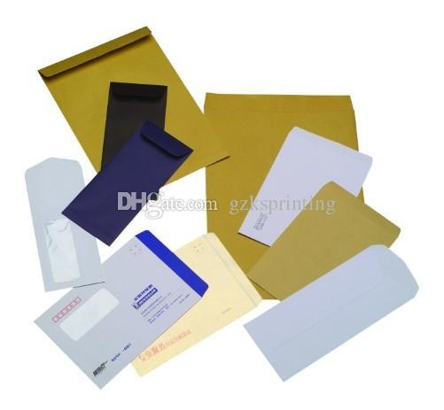 Custom logo Envelopes printing Kraft paper business Envelopes with window Offset/wood-free for mailing/wedding/gift Printer DL/ZL/C4/C5 Size