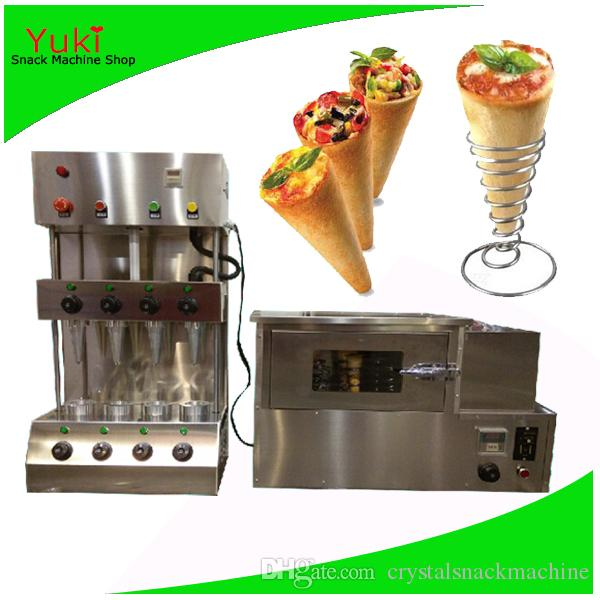 110V 220V Popular Pizza Cone Machine Cone Pizza Forno Comercial Pizza Cone Maker Aço Inoxidável Selvinho Snack Máquina