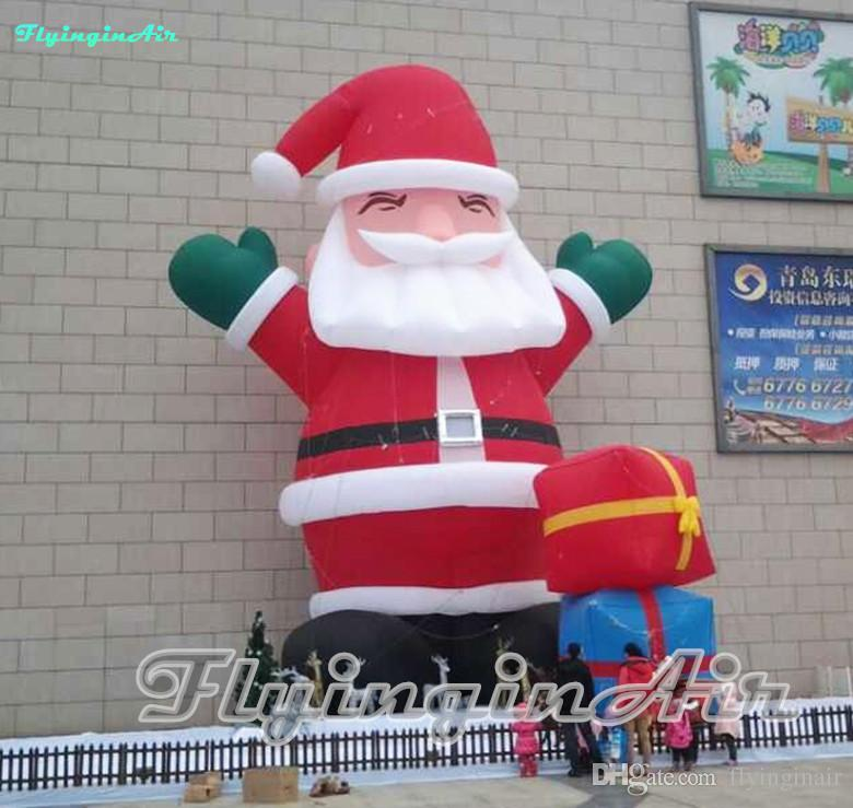 Giant 5m Outdoor Decorative Christmas Santa Inflatable Santa for Mall/Party/Doorway