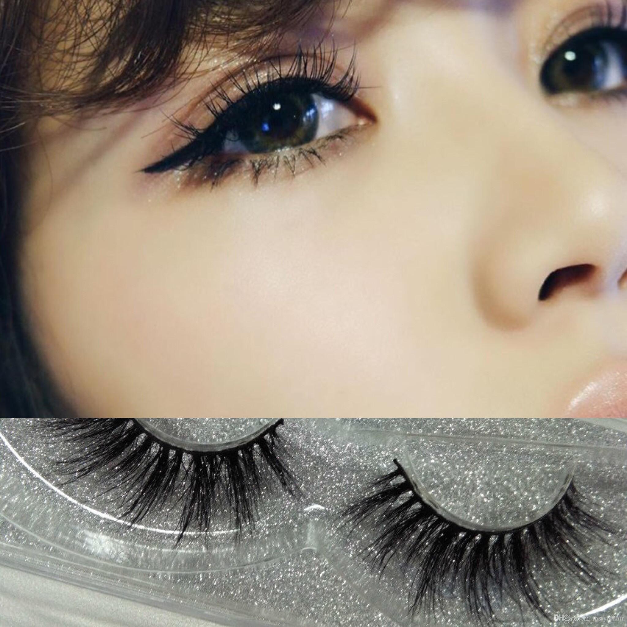 10pairs Beauty 3D MINK False Eyelashes Messy Cross Thick Natural Fake Eye Lashes Professional Makeup Eye Lashes Handmade