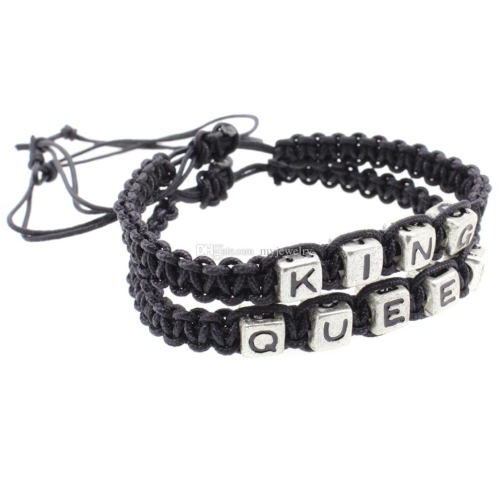Wholesale Adjustable Couples Bracelets King And Queen Letters ...