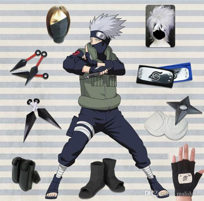 Malidaike Anime Naruto Hatake Kakashi Full Set Cosplay Costume Clothe With Weapon Stage Property Halloween Costumes Online Cheap Cosplay Costumes From Malidaike 111 67 Dhgate Com