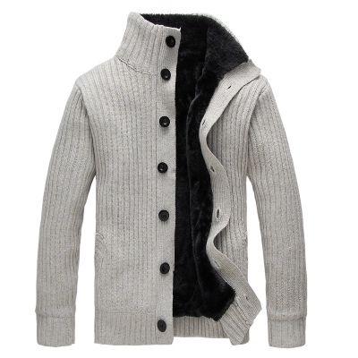 Зима мужчины свитер водолазка шерсть пальто толстый кардиган трикотаж свитера теплый флис толстовка толстовка повседневная пальто