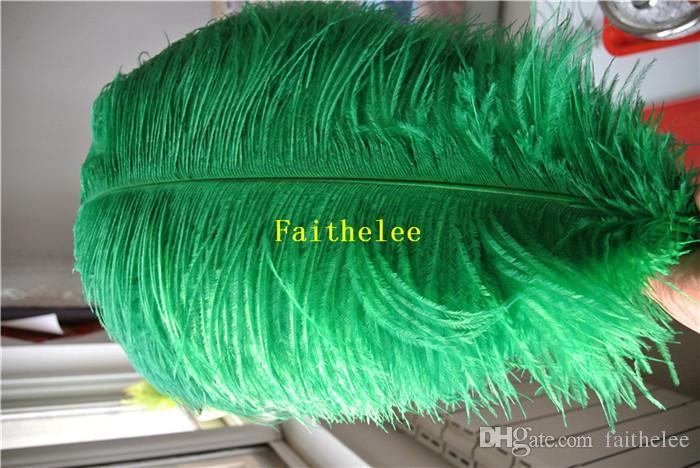 En gros 300 pcs 8-10 pouces kelly vert autruche PLUMES pour table de mariage centerpices décor artisanat mariages costumes fournir