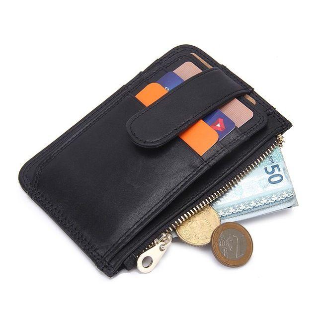 薄い財布ジッパーハッツブランドデザインの本物の革の男性財布カードホルダー男性財布高品質1009