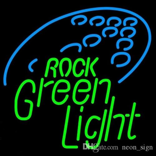 "Rolling Rock Green Light Neon Sign Custom Handmade Real Glass Store Bar KTV Club Motel Party Display Decorataion Art Neon Signs 14""X17"""