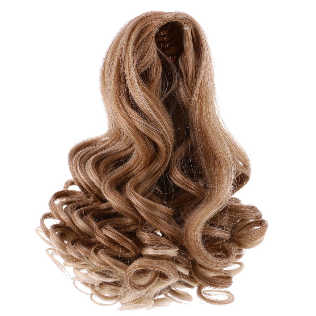 6 Pieces//Set Dolls Wavy Curly Hair Wig for 18inch American Doll DIY Making