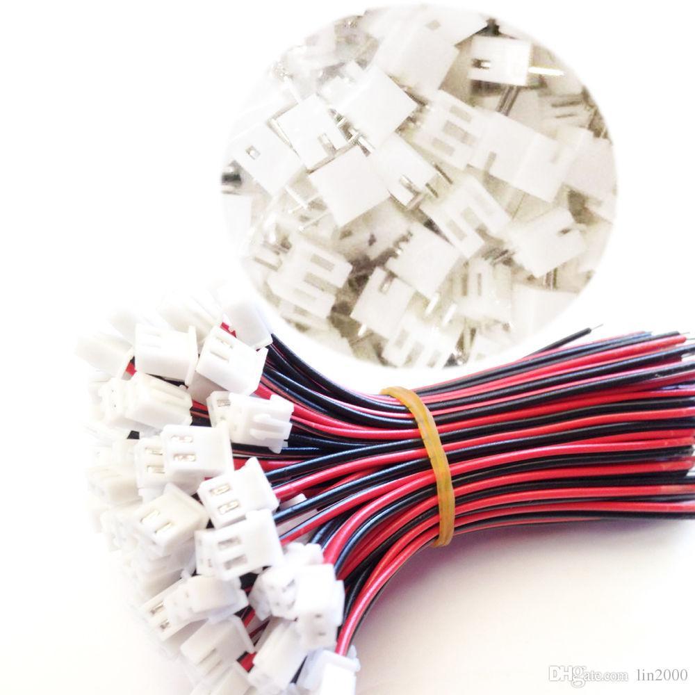 100 Takım 2.54mm Pitch 2 Pimli Konnektörler, 15cm Kablo Montajlı Kablo Demeti ile
