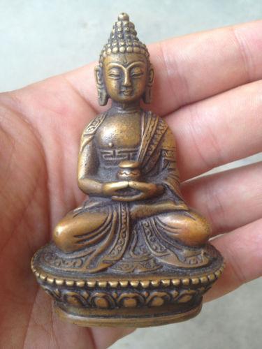Античный сети Tibétain bouddha Bouddha Бодхисаттвы бронзовая статуя Décoration собственной ванной artisanat métal