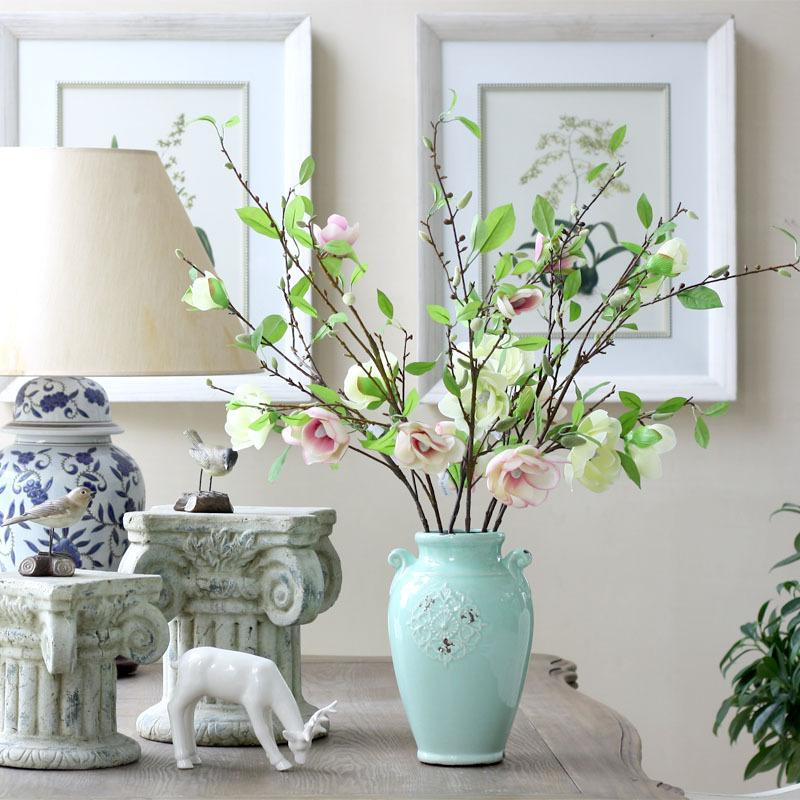 Simulation Blume lang Kleine Magnolie Dekorative Blumen Continental Hotel Künstliche Blumen 95 cm lang
