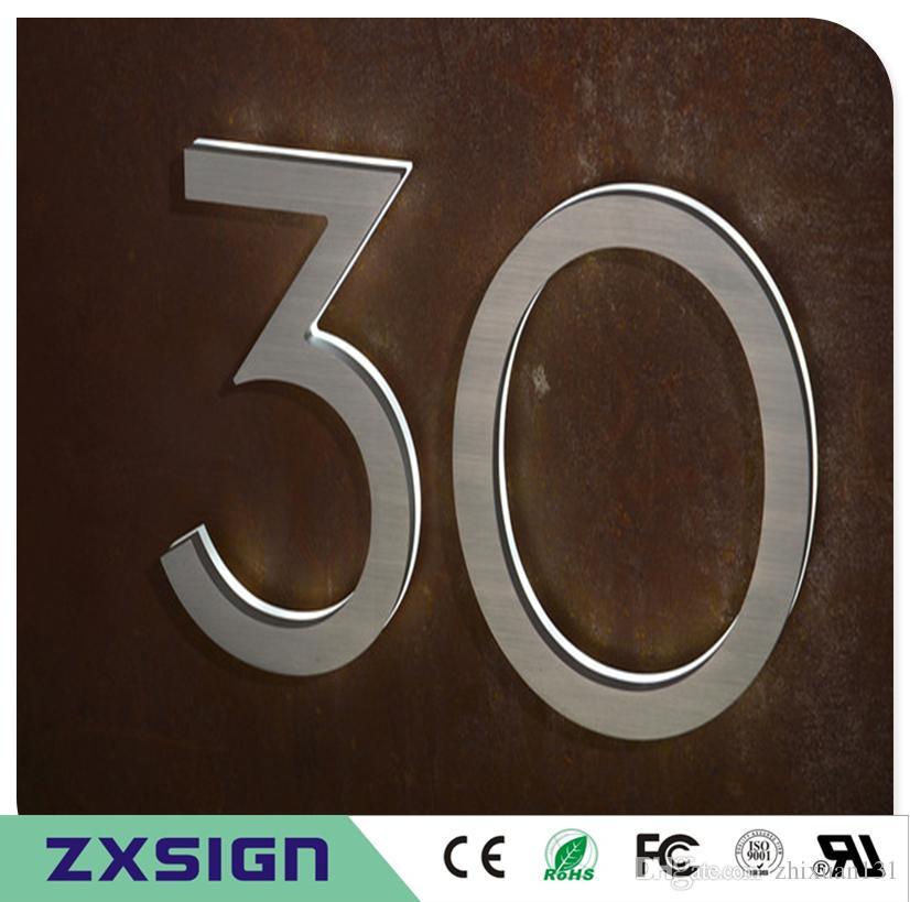 20cm hohe Outdoor 304 # Edelstahl Backlit LED Hausnummern, 8 Zoll hoch beleuchtete Hausnummer, Licht Türschild