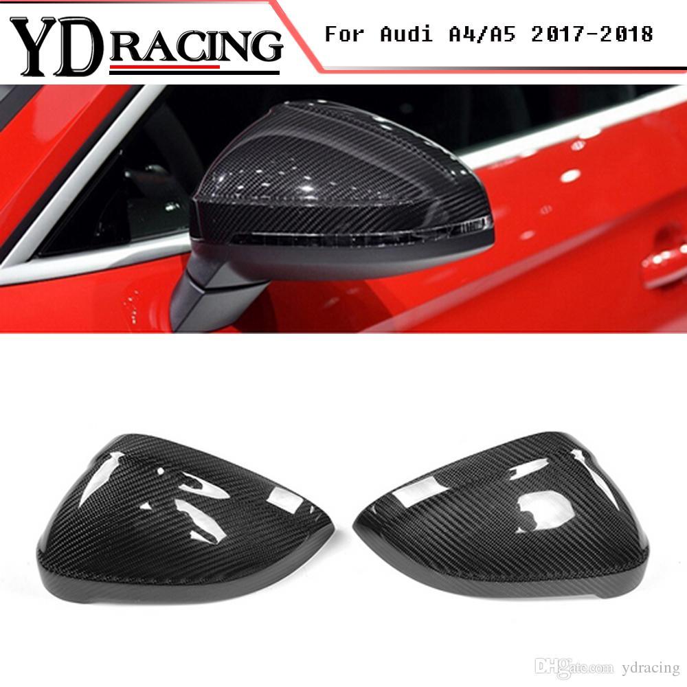 A4 A5 Sostituisci tipo Copri specchietto retrovisore in fibra di carbonio Car Racing per Audi A4 S4 RS4 A5 S5 RS5 2017-2017