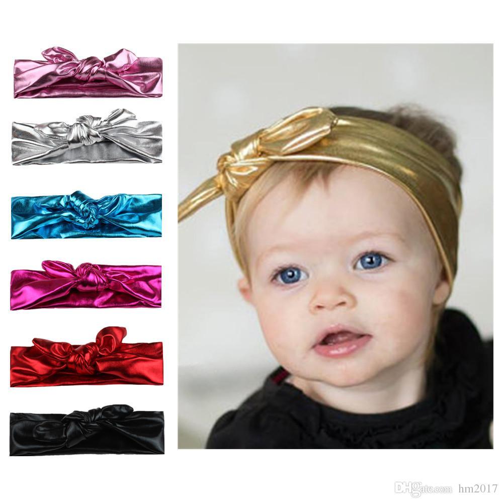 신생아 머리 장식 소녀 냉기 매듭 탄력성 아기의 신축성 머리띠 어린이 헤어 밴드 헤어 액세서리