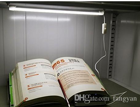 Tubo USB portátil LED 5V Lámpara de escritorio de dormitorio de estudiantes súper brillantes de 30 CM Luz LED con botón de encendido / apagado (Blanco cálido y frío)