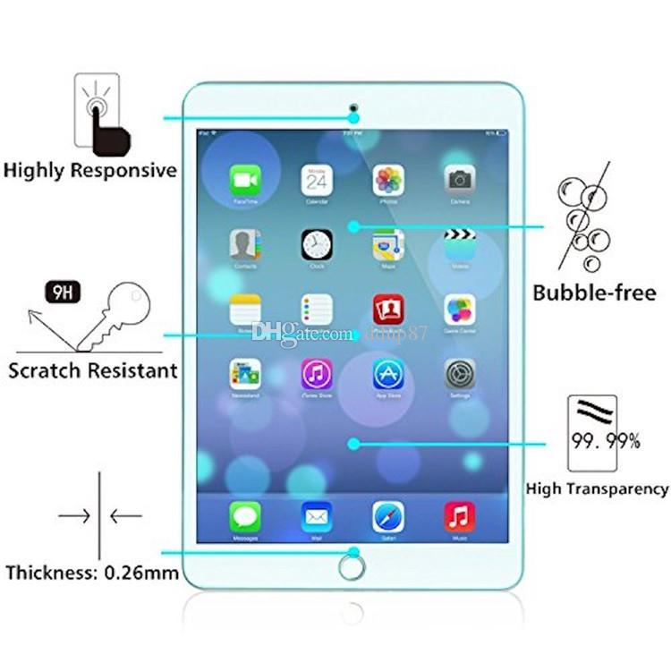 wholesale Tempered Glass Screen Protector Anti Scratch film HD Clear For IPAD Pro 10.5 inch(without packing)