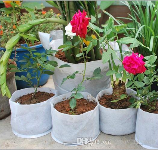 50x40cm اواني تنفس تنمو تعزيز الوجهين لينة نمو المحمولة زراعة زهور حماية البيئة قابلة لإعادة الاستخدام المزارعون زراعة حقيبة SF