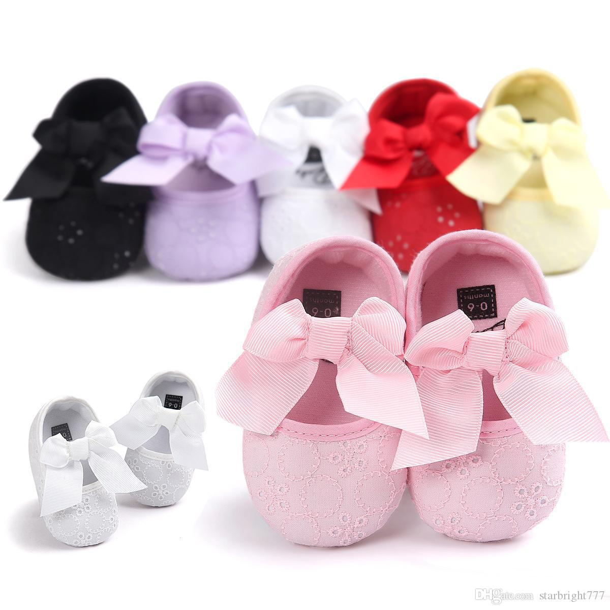 shop for official exceptional range of styles and colors 2019 clearance sale 2019 Newborn Shoes Infant Baby Girls Shoes Cotton Lace Bows Princess Party  Shoes Birthday Soft Sweet 0 1 Year Maternity 2017 Spring New From ...