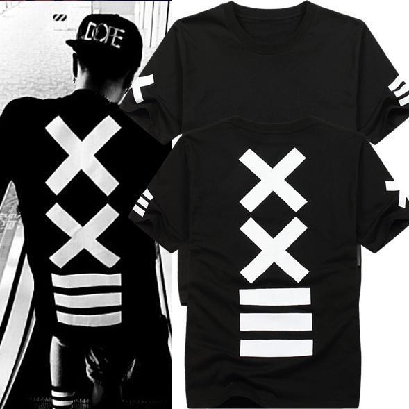 Venta al por mayor- Camisetas para hombre de moda 2016 hba Camiseta hip hop Camiseta rock para hombre camiseta con pañuelo Camiseta estampada con estampado gráfico para hombre