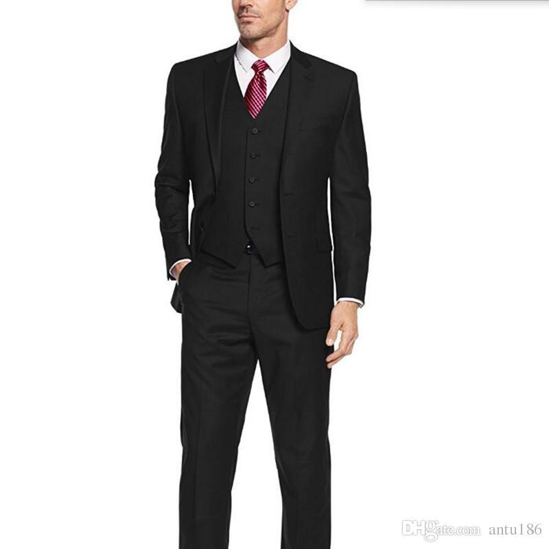 Hot sale men suits new design groom wedding suits tuxedos good quality best man party feast dress suits(jacket+pants+vest)