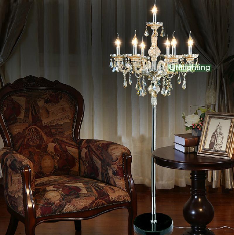 Modern kat odası, otel odaları aydınlatma fuaye abajur çağdaş zemin ışıkları ile yatak odası lüks kristal zemin aydınlatma lambaları