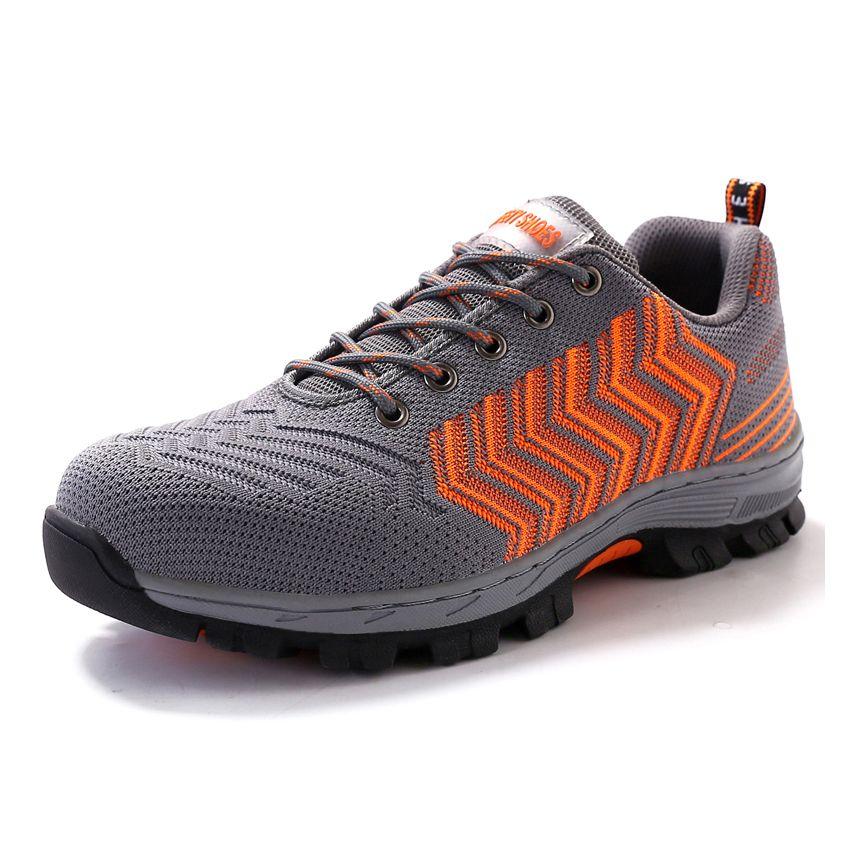에어 메쉬 남자 작업 안전 신발 강철 발가락 모자 펑크 증거 내구성 통기성 보호 신발 남자 캐주얼 신발
