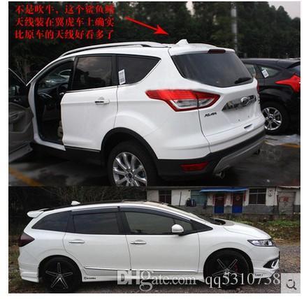 MingWei Auto Antenne Haifischflosse Antenne AM FM Signal Auto Radio Antenne mit Kleber ABS Lackierung Dekoration Schwarz, Kohlefaser