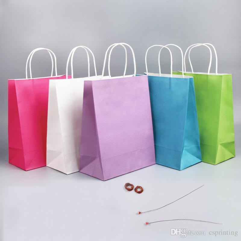 쇼핑 핸들 가방 작은 크기의 종이 소재 맞춤형 인쇄 로고 포장 주머니에 구매하지 마십시오.
