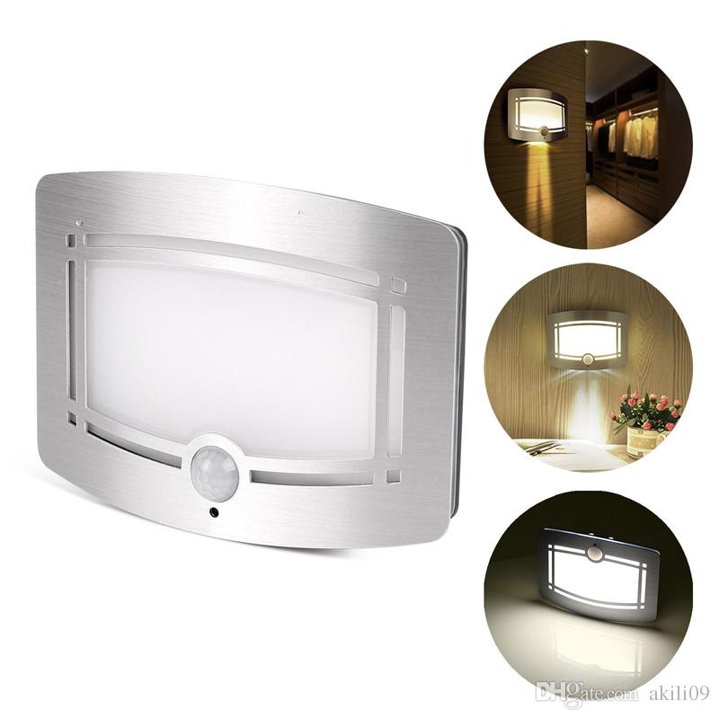 10 LED Wireless Light-operated Motion Sensor Activated Battery Operated Sconce Wall Light Night Light For Hallway Pathway Staircase Garden