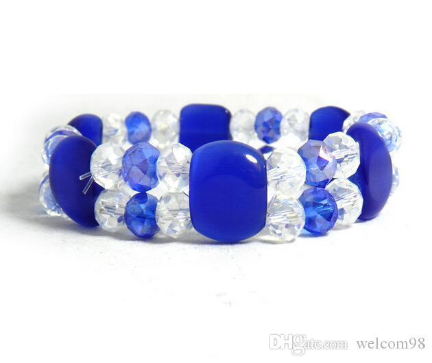 I braccialetti sfaccettati opalini dei branelli di Ctystal di colori della miscela 10pcs / lot per i monili del mestiere Gfit CR09 liberano il trasporto