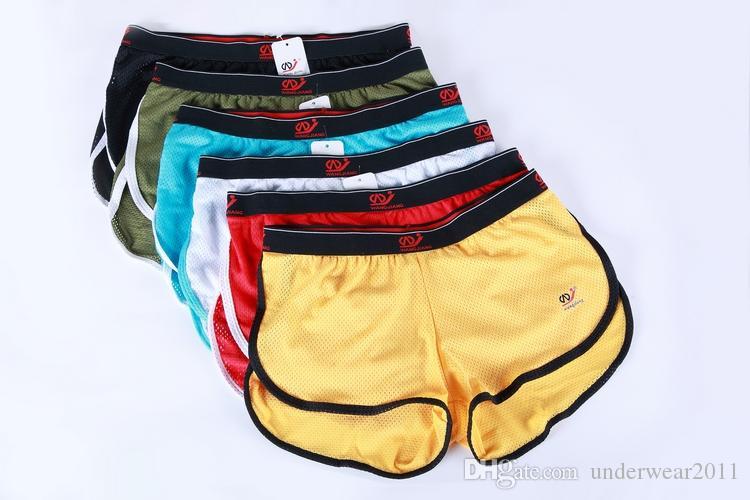 2010-YD Atacado WANGJIANG Boxer Shorts Para Homens Shorts De Esportes Para Casa Malha De Jogging Shorts